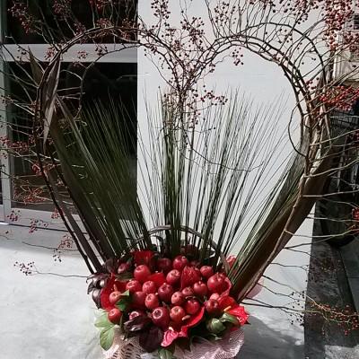 野バラの実・スチールグラス・リンゴ